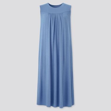 Women Drape Jersey Sleeveless Dress
