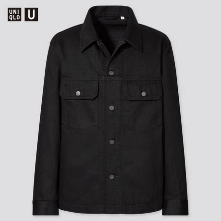 Men Uniqlo U Cotton Trucker jacket