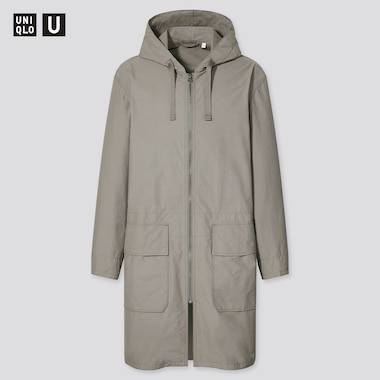 U Hooded Coat, Gray, Medium
