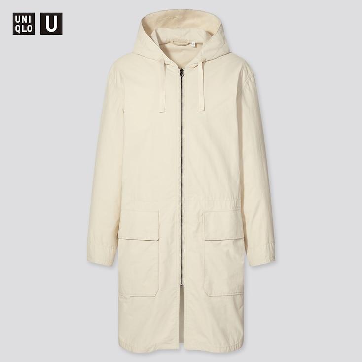 Men U Hooded Coat, Natural, Large