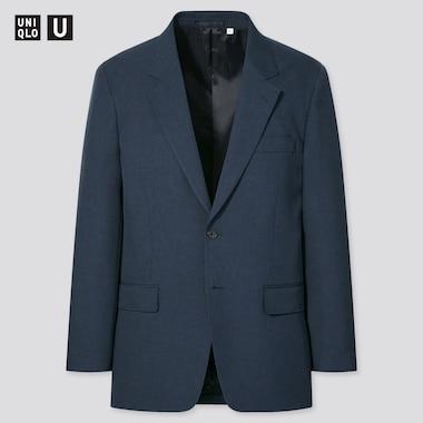Men U Regular-Fit Tailored Jacket, Navy, Medium