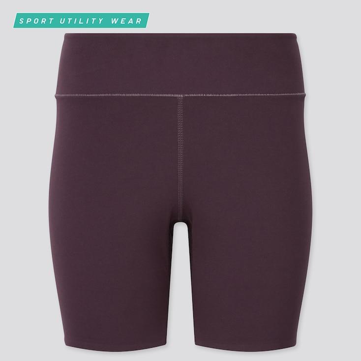 "Women Airism Soft Biker Shorts (6.5""), Wine, Large"