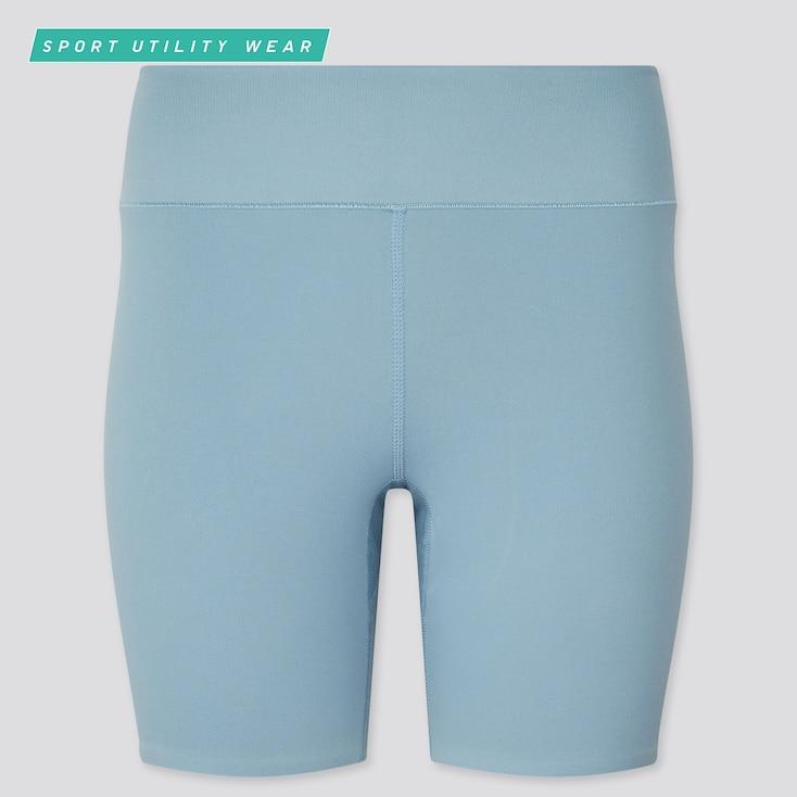 Women Airism Soft Biker Shorts, Blue, Large