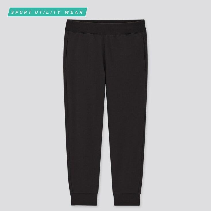 Women Airism Cropped Jogger Pants, Black, Large