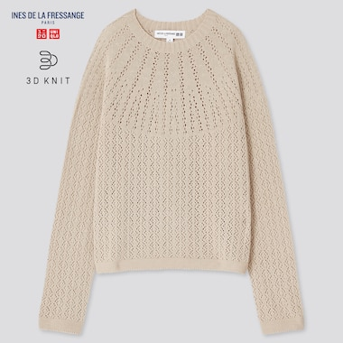 Women Ines 3D Knit Seamless Pointelle Jumper