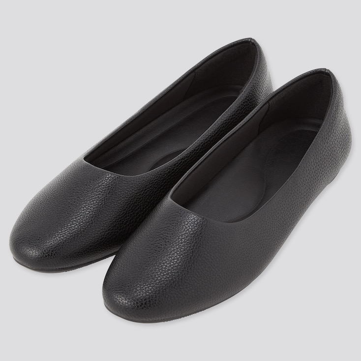 Women Comfort Feel Touch Round-Toe Flats (Online Exclusive), Black, Large