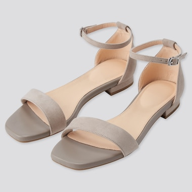 Women Comfort Feel Ankle Strap Sandals, Beige, Medium