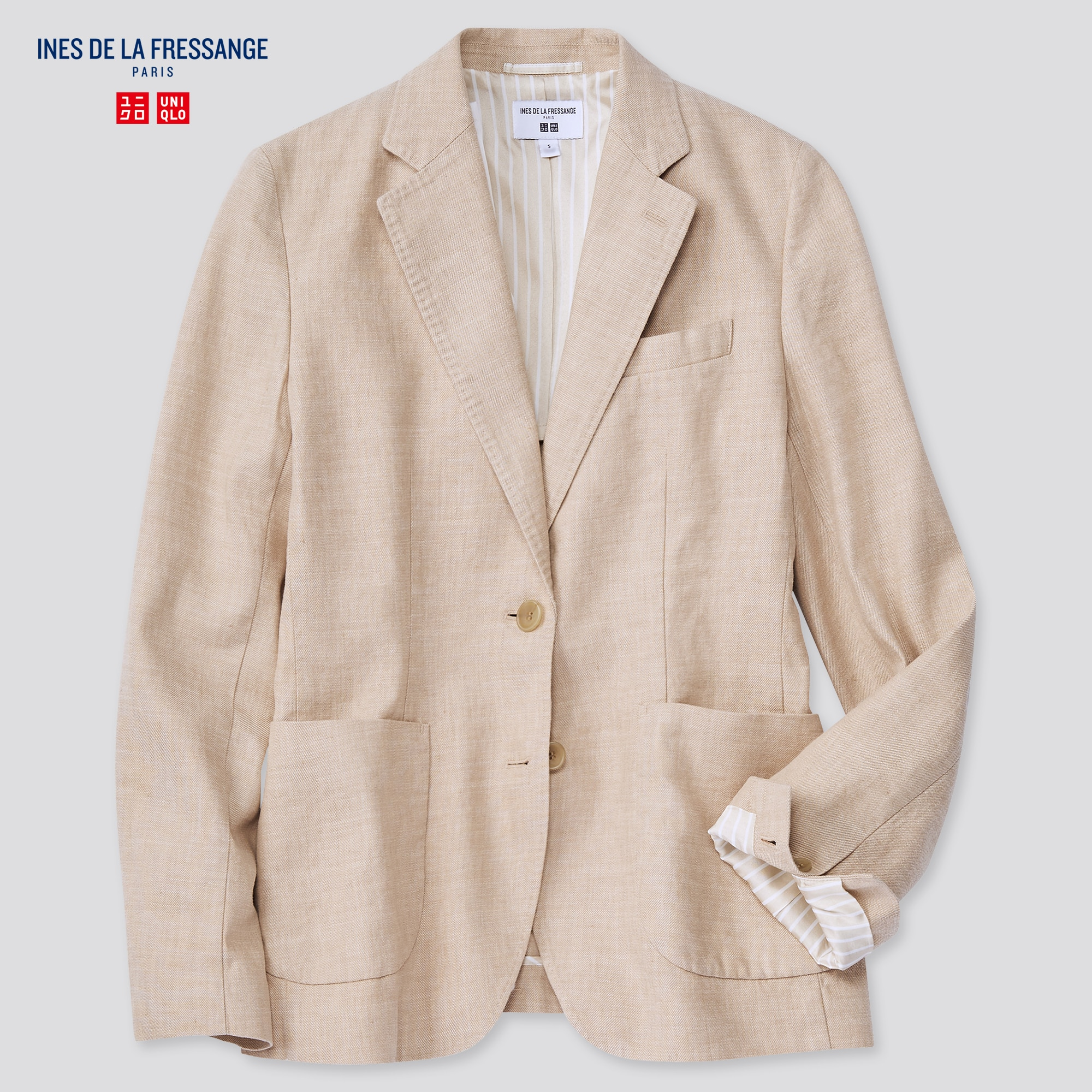 WOMEN LINEN COTTON JACKET (INES DE LA FRESSANGE)