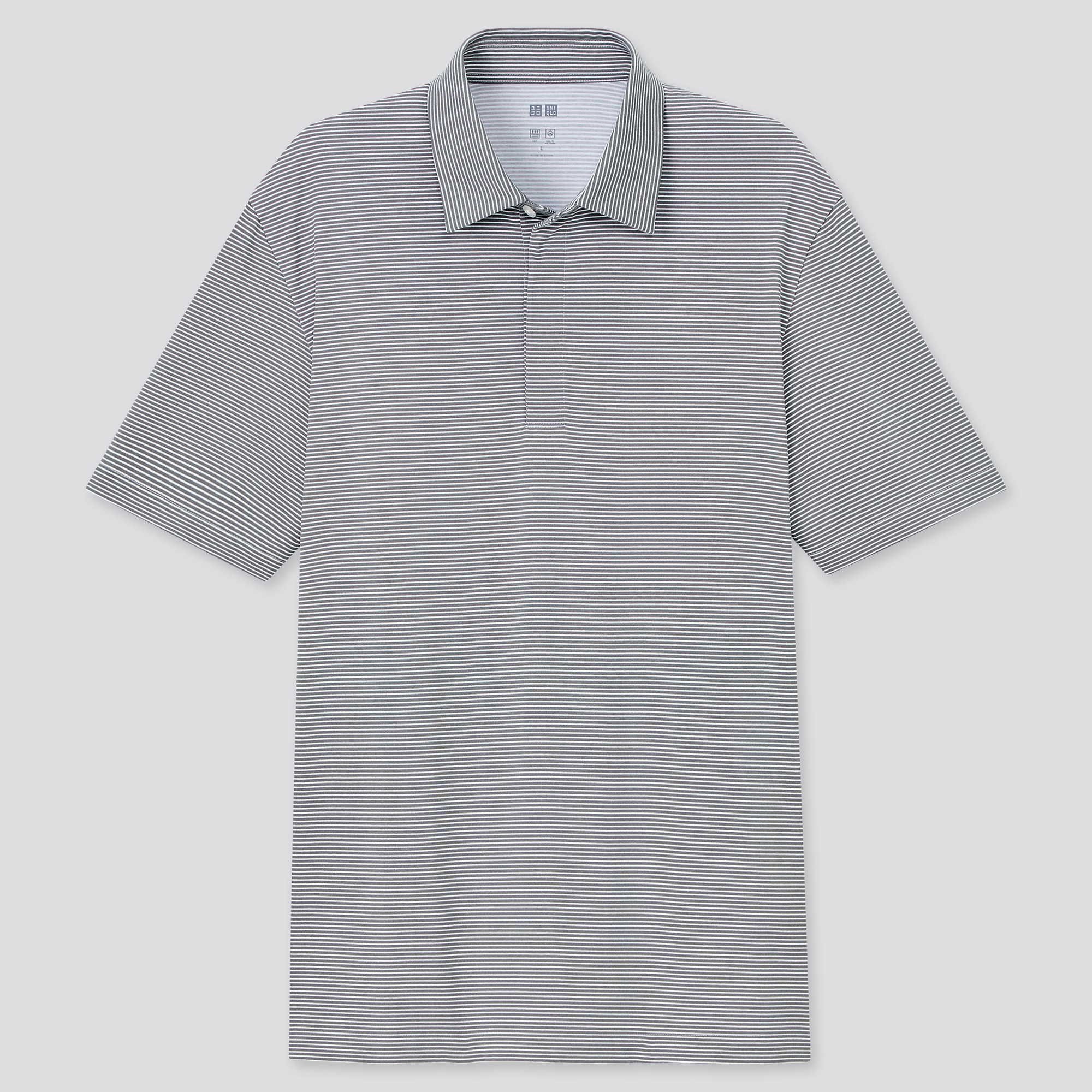 MEN AIRism FLY FRONT POLO SHIRT