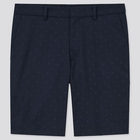 Men Stretch Slim Fit Printed Shorts