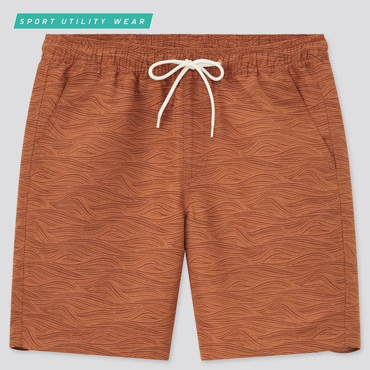 Men Active Swim Shorts, Orange, Large