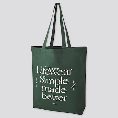 Medium Eco-Friendly Printed Tote Bag, Dark Green, Medium