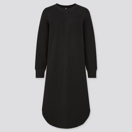 Damen Langärmliges Kleid in Waffeloptik