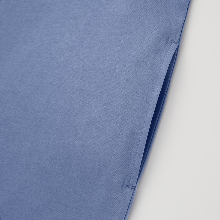 Women Mercerized Cotton Short-Sleeve T-Shirt Dress, Dark Orange, Large