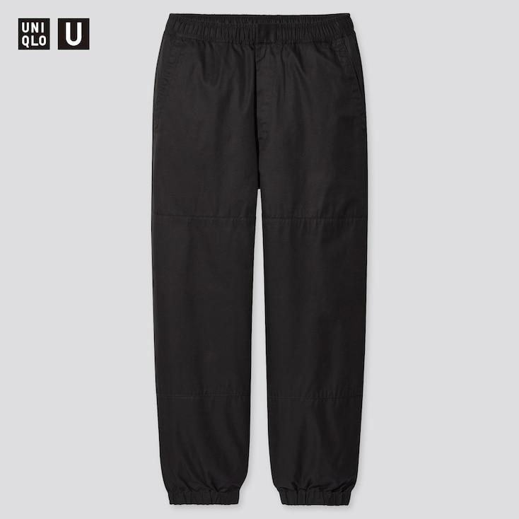 Men U Wide-Fit Jogger Pants, Black, Large