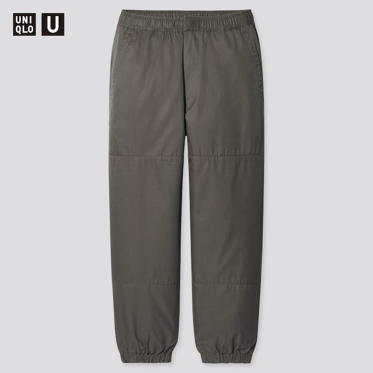 Men U Wide-Fit Jogger Pants, Olive, Large