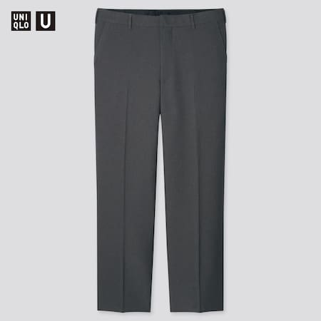 Men Uniqlo U Regular Fit Tapered Trousers