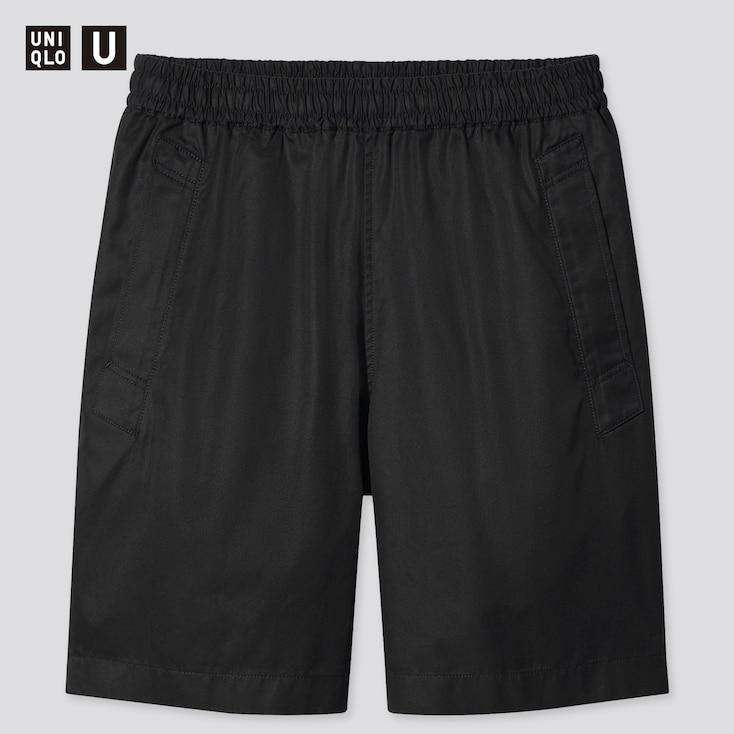 Men U Easy Wide-Fit Shorts, Black, Large