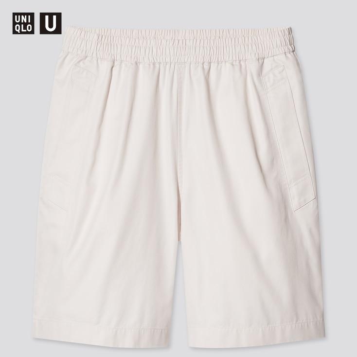 Men U Easy Wide-Fit Shorts, Natural, Large
