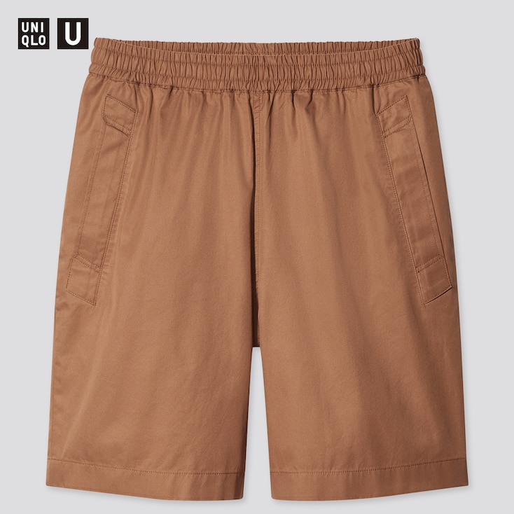 Men U Easy Wide-Fit Shorts, Brown, Large