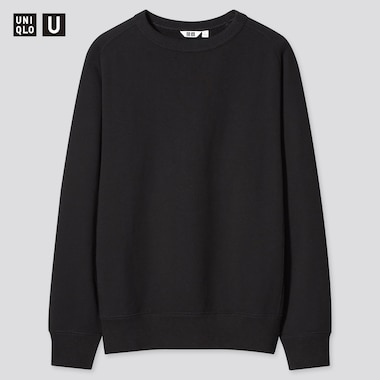 Men U Wide-Fit Long-Sleeve Sweatshirt, Black, Medium