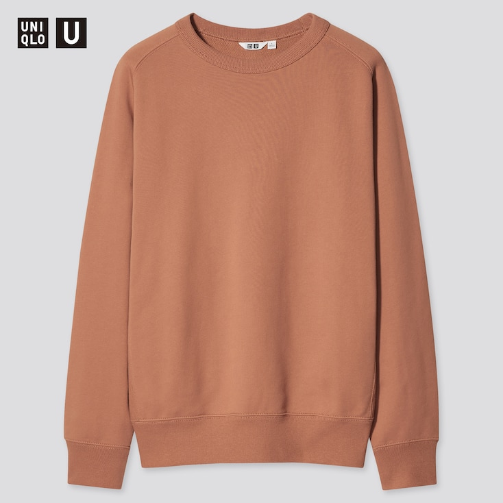 U Wide-Fit Long-Sleeve Sweatshirt, Orange, Large