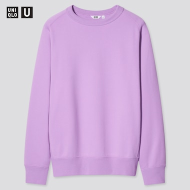 U Wide-Fit Long-Sleeve Sweatshirt, Purple, Medium