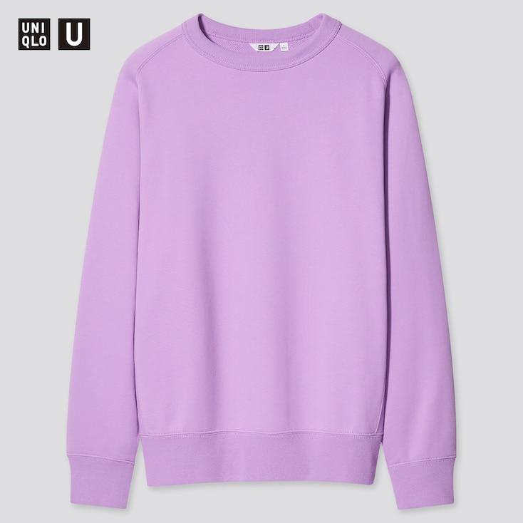 U Wide-Fit Long-Sleeve Sweatshirt, Purple, Large