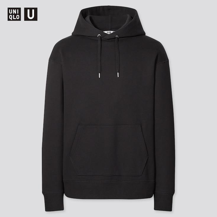 U Wide-Fit Long-Sleeve Sweat Pullover Hoodie, Black, Large