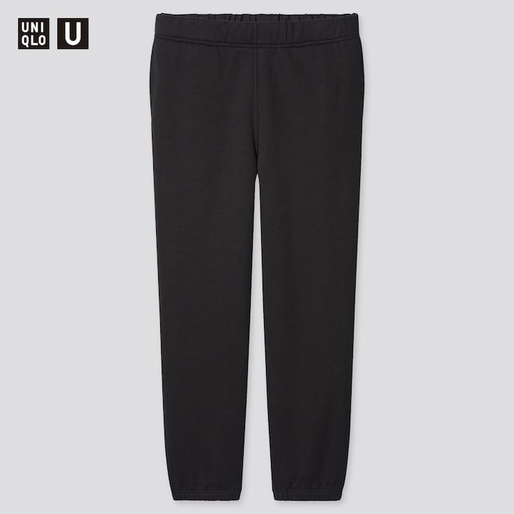 Men U Straight-Leg Sweatpants, Black, Large