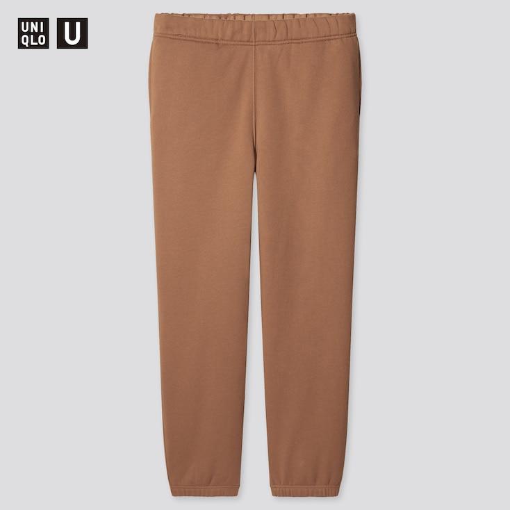 Men U Straight-Leg Sweatpants, Brown, Large