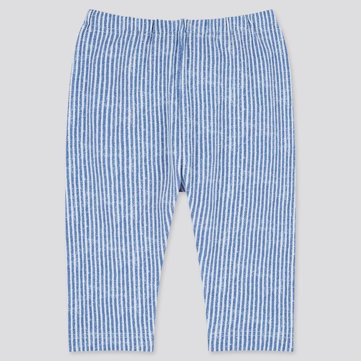 Baby Cropped Leggings, Blue, Large