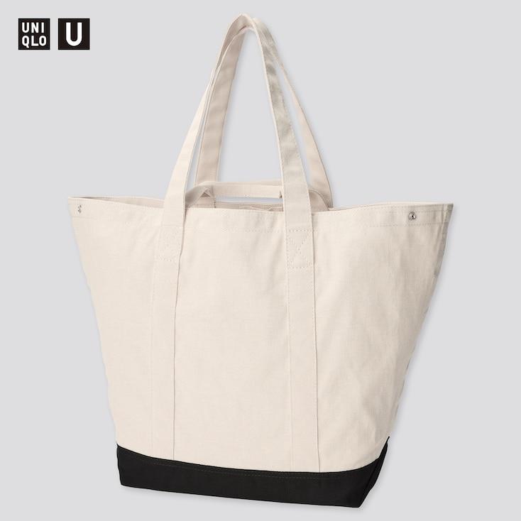 U Tote Bag, Natural, Large