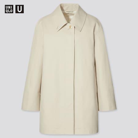 Damen UNIQLO U Kurzer Mantel mit verstärktem Kragen