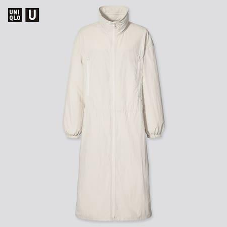 Women Uniqlo U Nylon Hooded Coat
