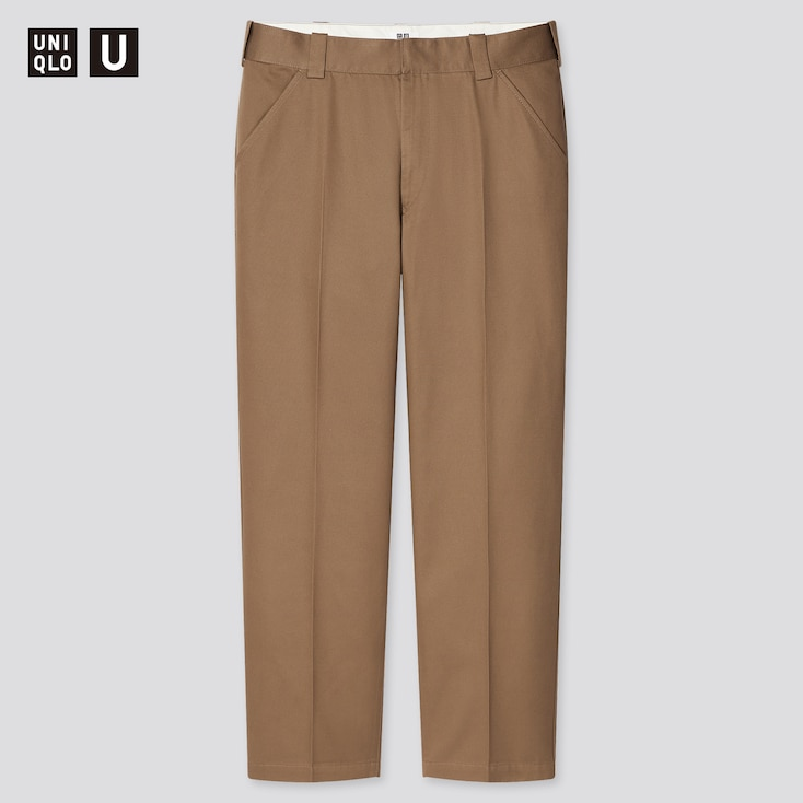 Men U Regular-Fit Work Pants, Brown, Large