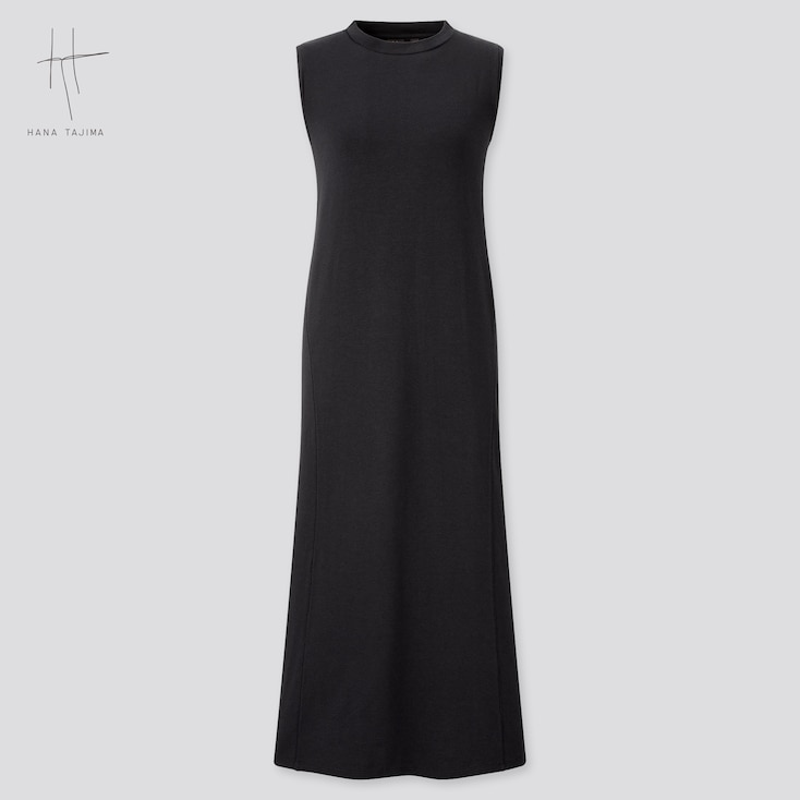 Women Sleeveless Long Flare Dress (Hana Tajima), Black, Large