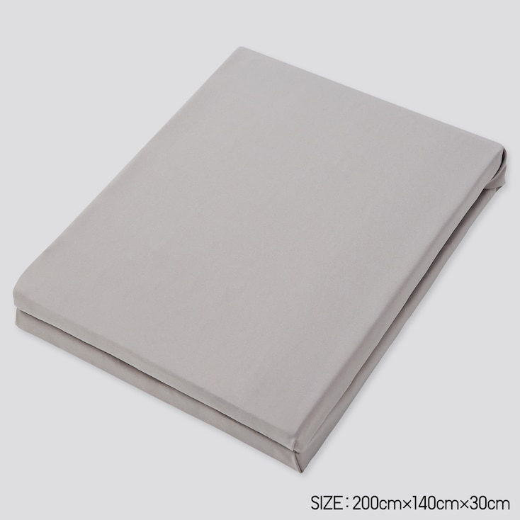 Airism Full-Size Fitted Sheet, Gray, Large