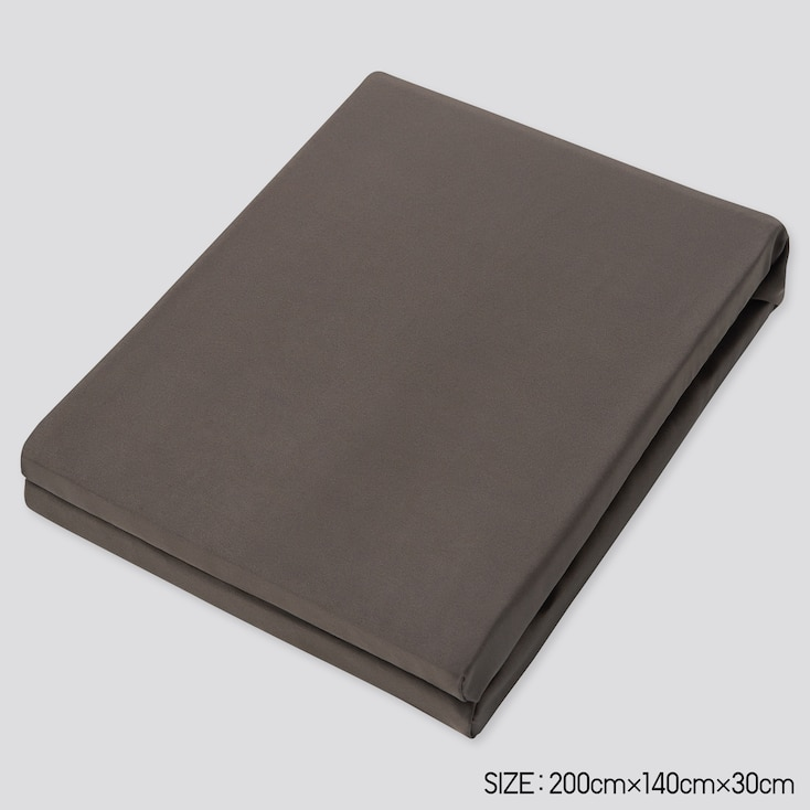 Airism Full-Size Fitted Sheet, Dark Brown, Large