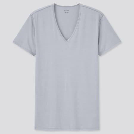 Herren AIRism T-Shirt mit V-Ausschnitt