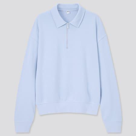 Women Sweat Half-Zipped Pullover