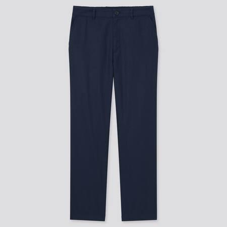 Pantaloni Lino Misto Cotone Affusolati Donna