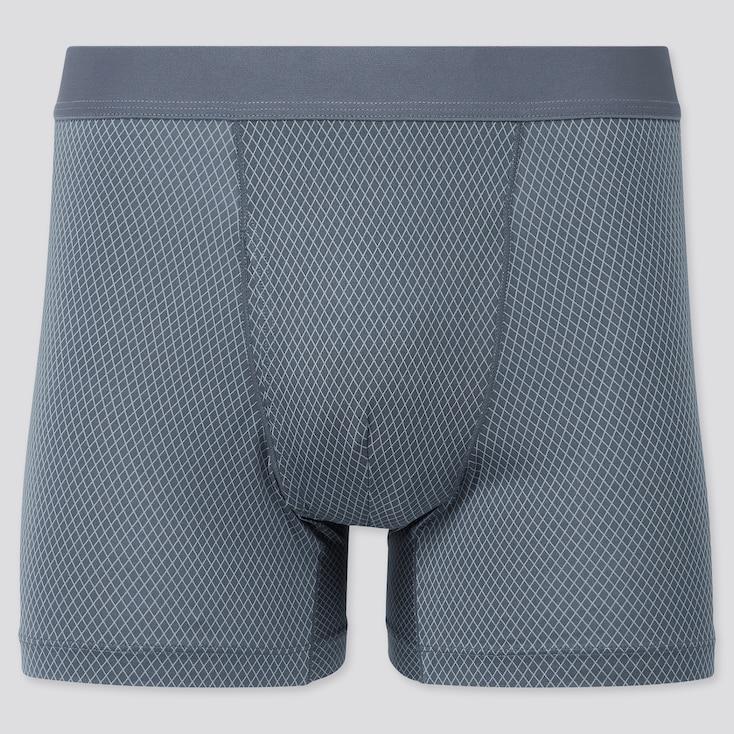 Men Airism Boxer Briefs, Gray, Large