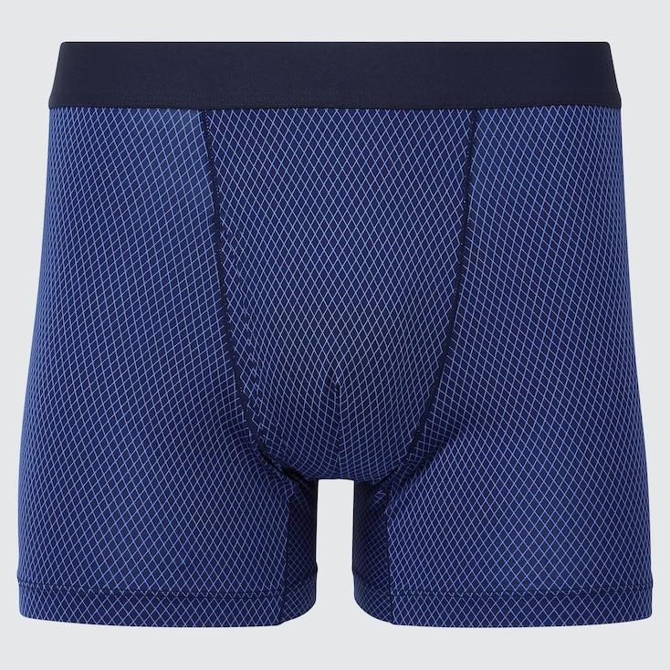 Men Airism Boxer Briefs, Blue, Large