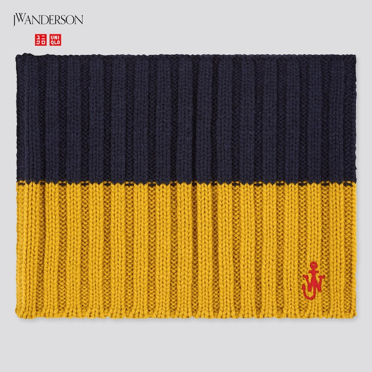 Kids Heattech Knitted Snood (Jw Anderson), Navy, Large