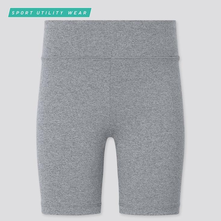 Girls Airism Soft Biker Shorts, Gray, Large