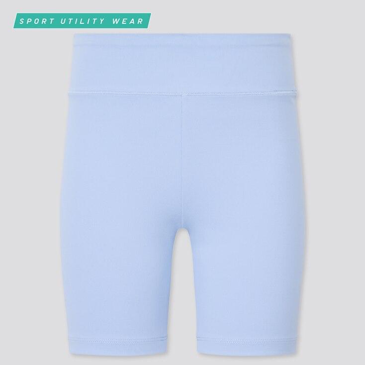 Girls Airism Soft Biker Shorts, Light Blue, Large