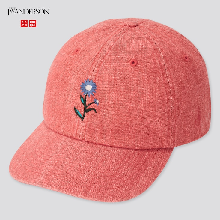 Washed Cotton Cap (Jw Anderson), Red, Large
