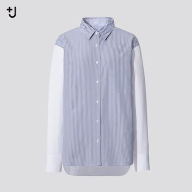 Women +J Supima Cotton Oversized Fit Striped Shirt