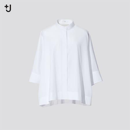 Women +J Supima Cotton Dolman 3/4 Sleeved Shirt